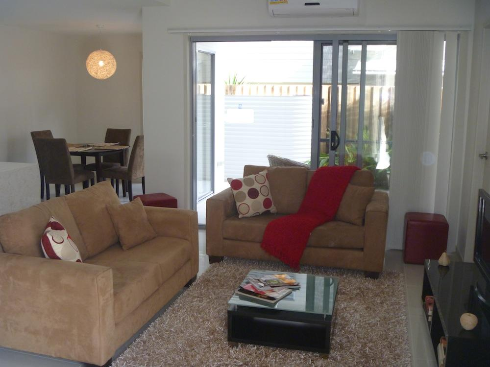 One of our short term furniture rental packages used to style a Brisbane display home
